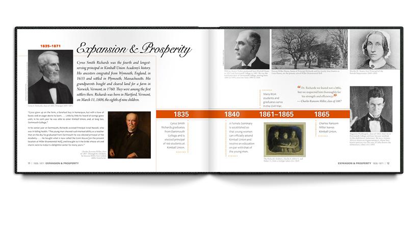 Spread from the KUA bicentennial book