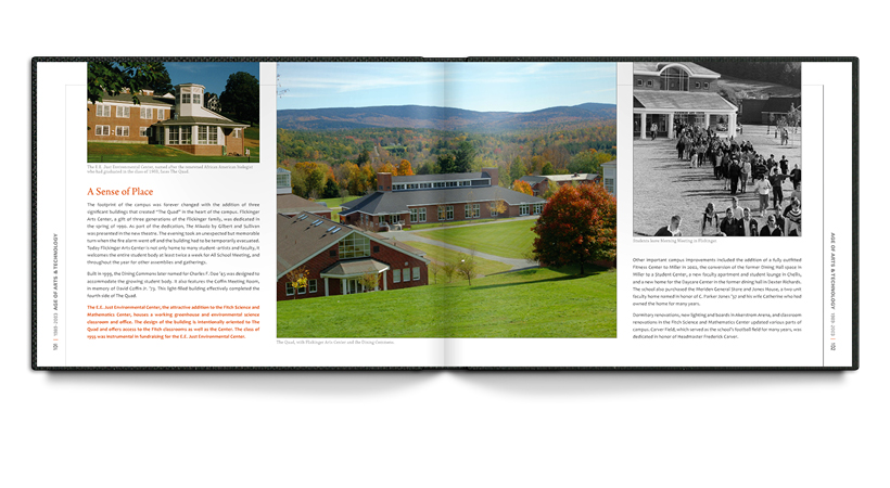 Spread from the KUA bicentennial book