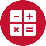 calculator icon red