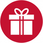 gift icon red