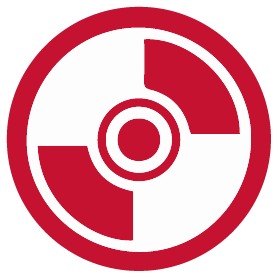 CD icon red