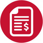 bank statement icon red