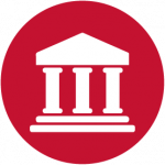bank icon red