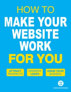 Light blue book cover with white and yellow letters. Title is How to Make Your Website Work for You