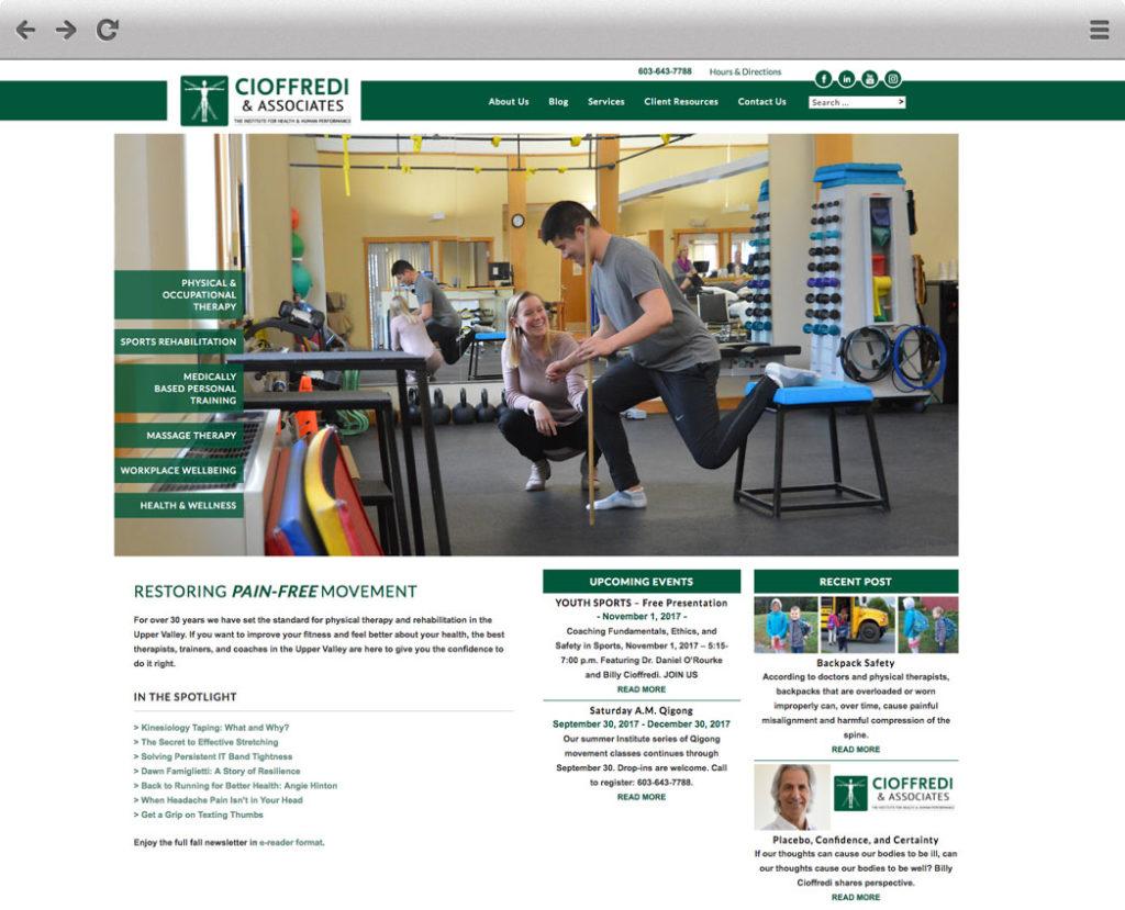 New Cioffredi Homepage Screenshot